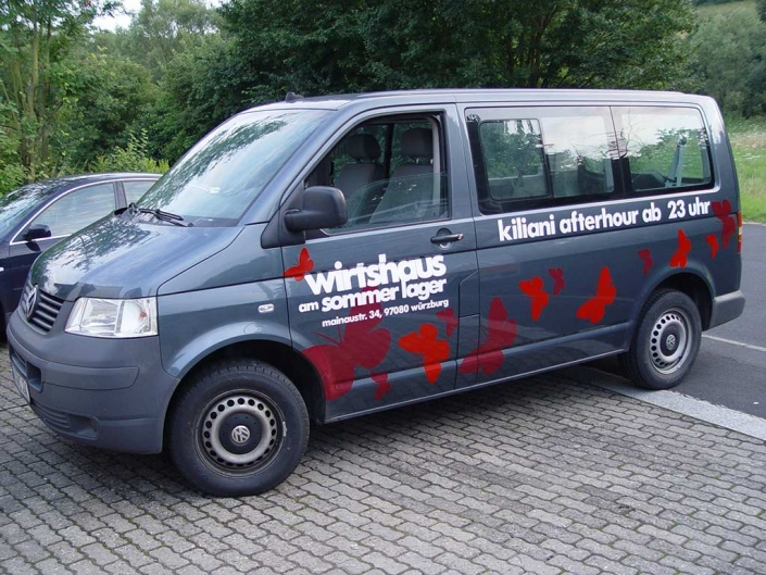 Autobeschriftung, Fahrzeugbeschriftung ausgeführt von Schickerei Werbetechnik